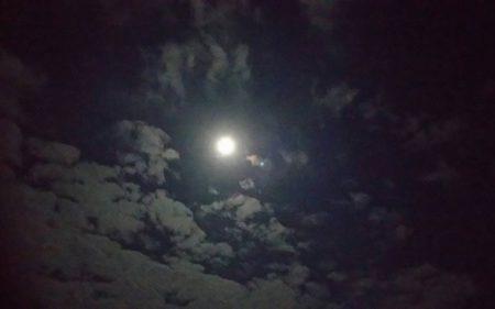 月と一緒に